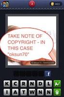 Screenshot of 4 Pics 1 Word Cheat AllAnswers