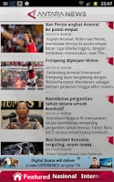 Screenshot of AntaraNews (official)