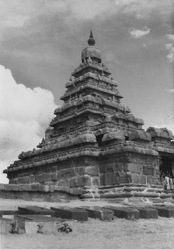 Back view of Shore Temple