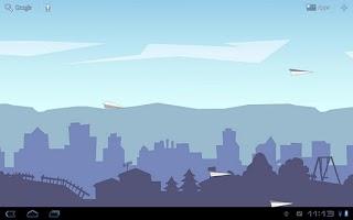 Screenshot of Paper Glider HD Live Wallpaper