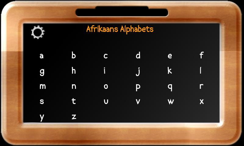 Baby Slate - Afrikaans - screenshot