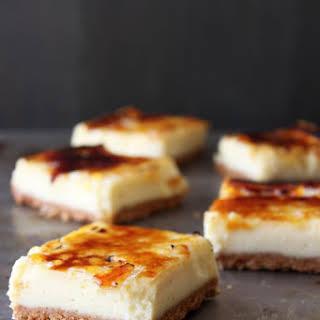 Creme Brulee Cheesecake Bars.