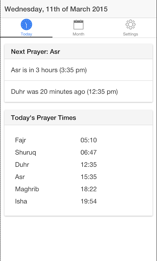 Belfast Prayer Times- screenshot