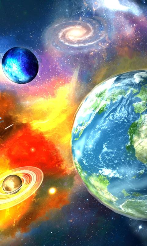 UR 3D Galaxy Live Wallpaper - screenshot