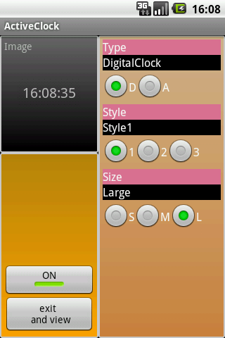 ActiveClock- screenshot