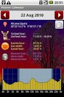 Screenshot of Hunter Calendar