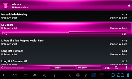 玩免費音樂APP|下載Poweramp SKIN ピンクの金属 app不用錢|硬是要APP