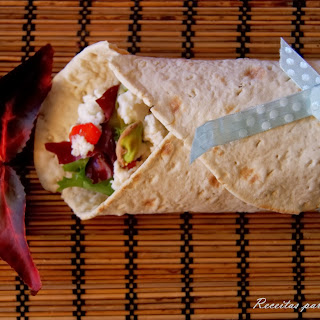 Cream Cheese, Caramelized Onion, and Pistachios Wraps.