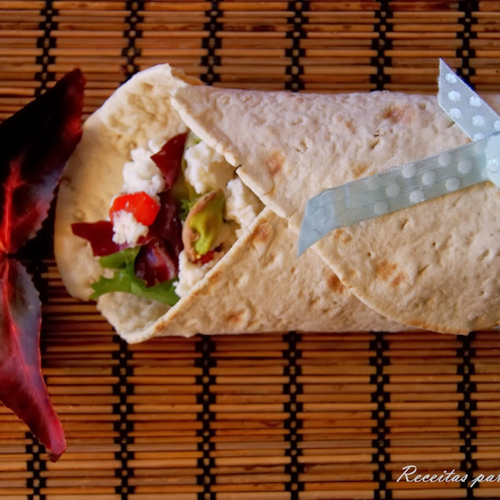 Cream Cheese, Caramelized Onion, and Pistachios Wraps