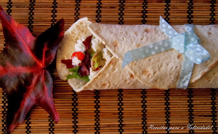 Cream Cheese, Caramelized Onion, and Pistachios Wraps Recipe