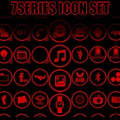Icon Pack - 7 Red Any Cut