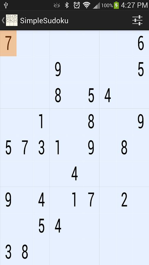 SimpleSudoku 7