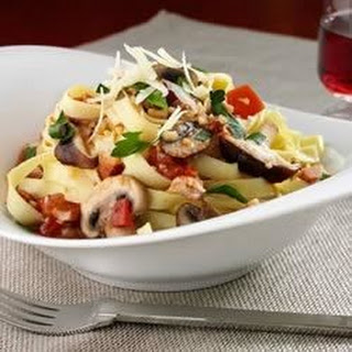Mushroom, Roasted Tomato and Pancetta Fettuccine