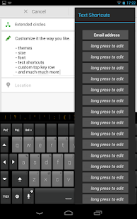 Thumb Keyboard Screenshot