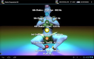 Screenshot of Chakra Frequencies HD