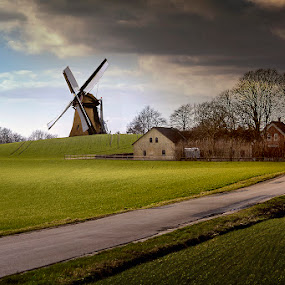 The Countryside by Awais Khalid - Landscapes Prairies, Meadows & Fields ( countryside, village, nature, windmill, fields )