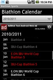 Biathlon sports - screenshot thumbnail