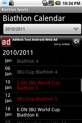 Biathlon sports - screenshot
