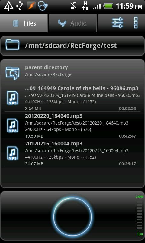 RecForge Pro - Audio Recorder - screenshot