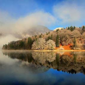 reflections cold morning by Anže Papler - Uncategorized All Uncategorized