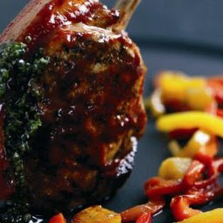 Glazed Pork Chop With Peppers