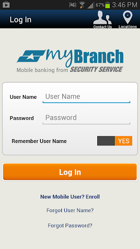 Security Service myBranch App