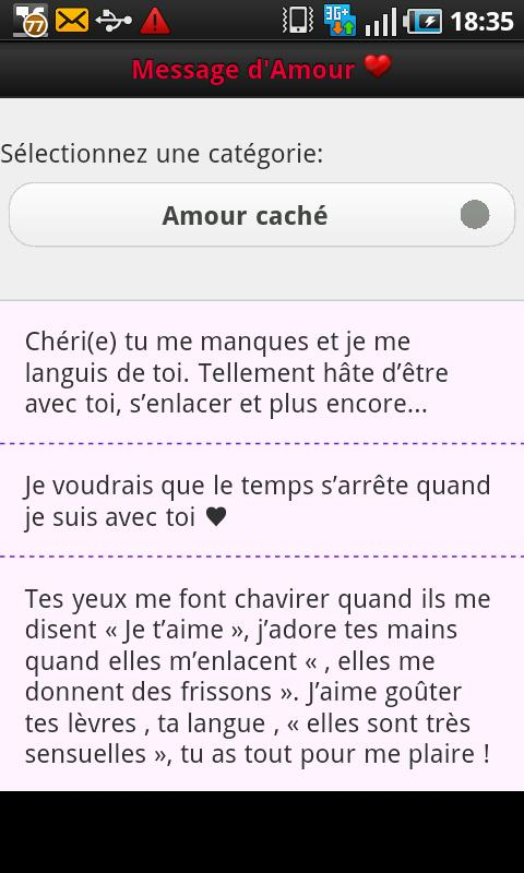 Phrases D' amour - screenshot