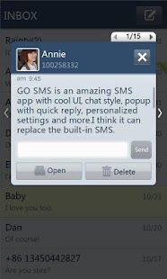 GO SMS Pro SimpleBlue theme - screenshot thumbnail
