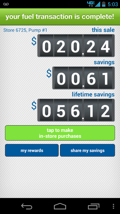 Cumberland Farms SmartPay - screenshot
