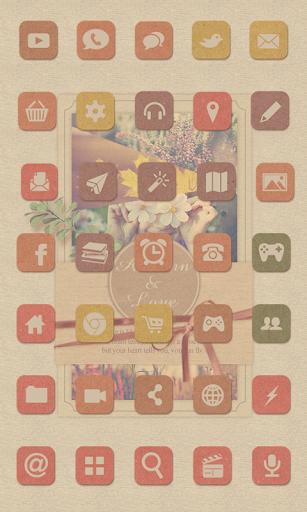 Autumn love icon Theme