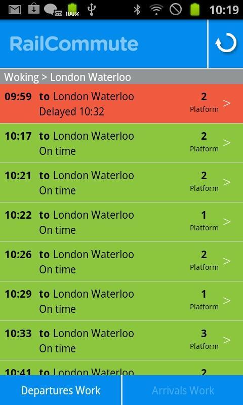 Rail Commute - Live UK Trains- screenshot
