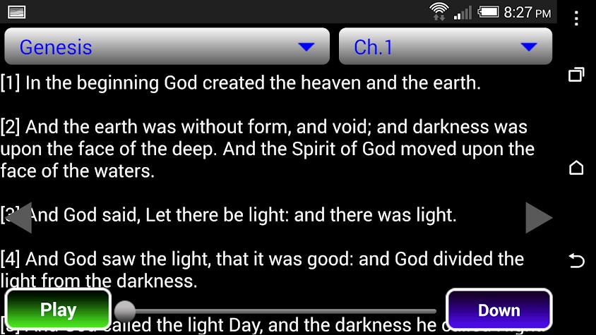 KJV Audio Bible Screenshot