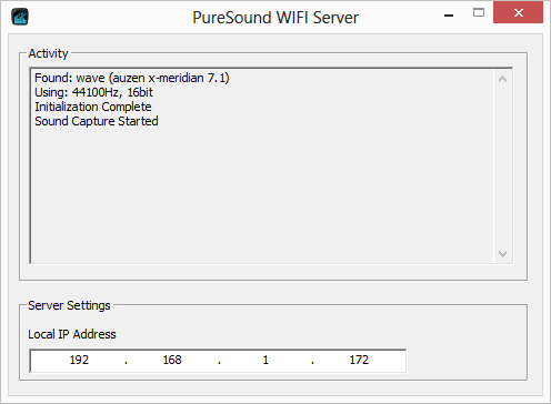 pureSound WIFI Trial- screenshot