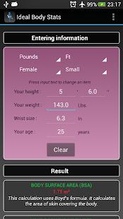 Ideal Weight BMI Adult & Child - screenshot thumbnail