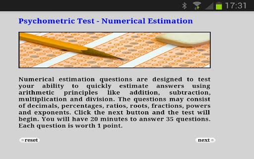 Psychometric Test Numerical Es
