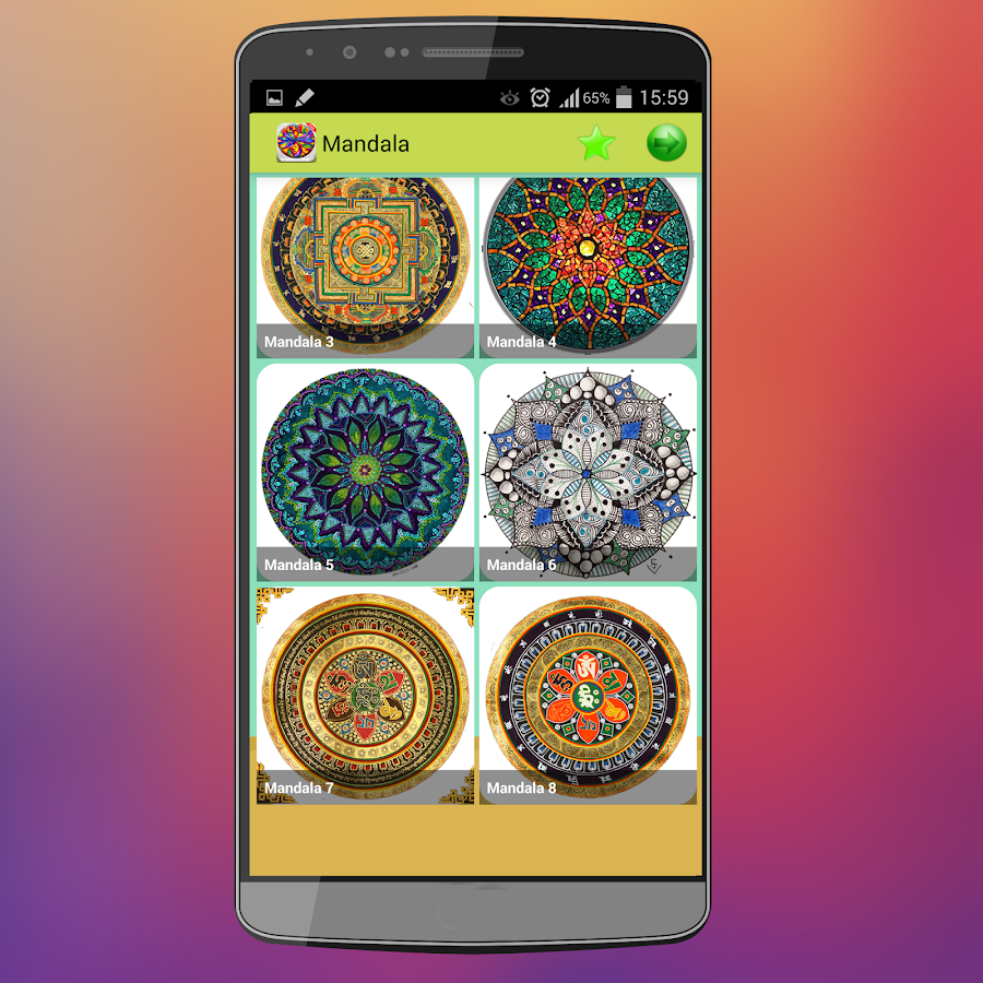 Mandala Coloring Pages Screenshot