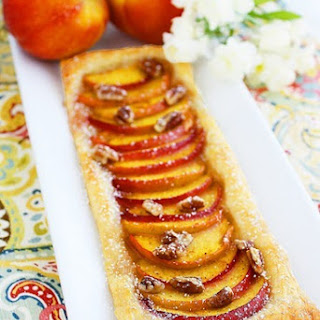 Texas Peach and Pecan Tart.