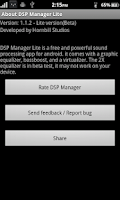 Screenshot of DSP Manager & Equalizer Free