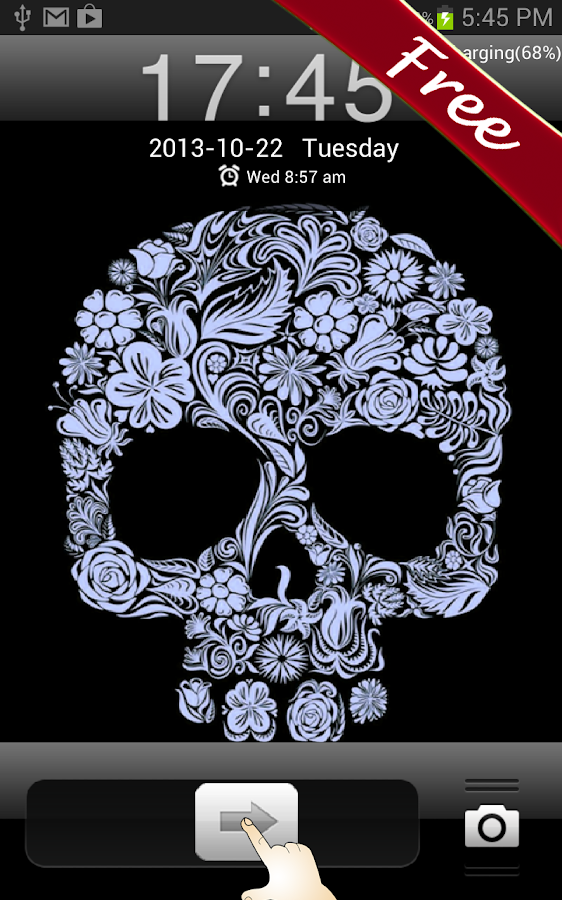 Flower Skull GO Locker - screenshot