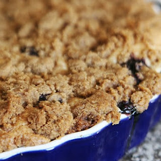 Blueberry Yogurt Pie with Streusel Topping