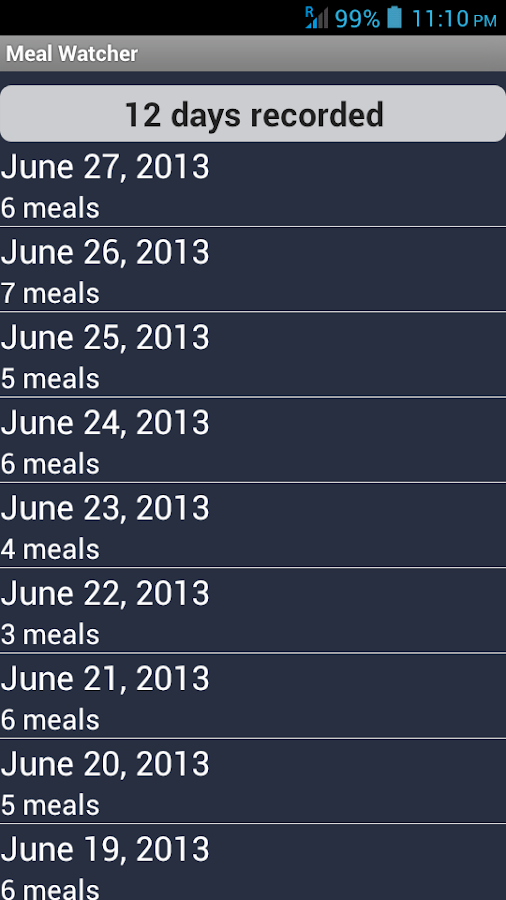 Meal Watcher - Your meal board - screenshot