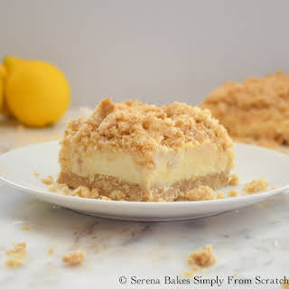 Creamy Lemon Cheesecake Crumb Bars.
