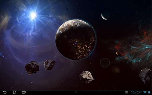 Space Symphony 3D Pro LWP Applications pour Android screenshot