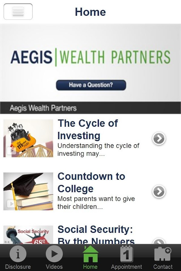 Aegis Wealth Partners- screenshot