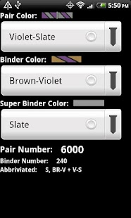 Telecom Color Code Calculator - screenshot thumbnail