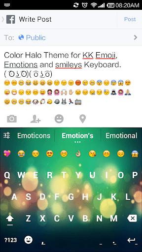 Color Halo Emoji Keyboard