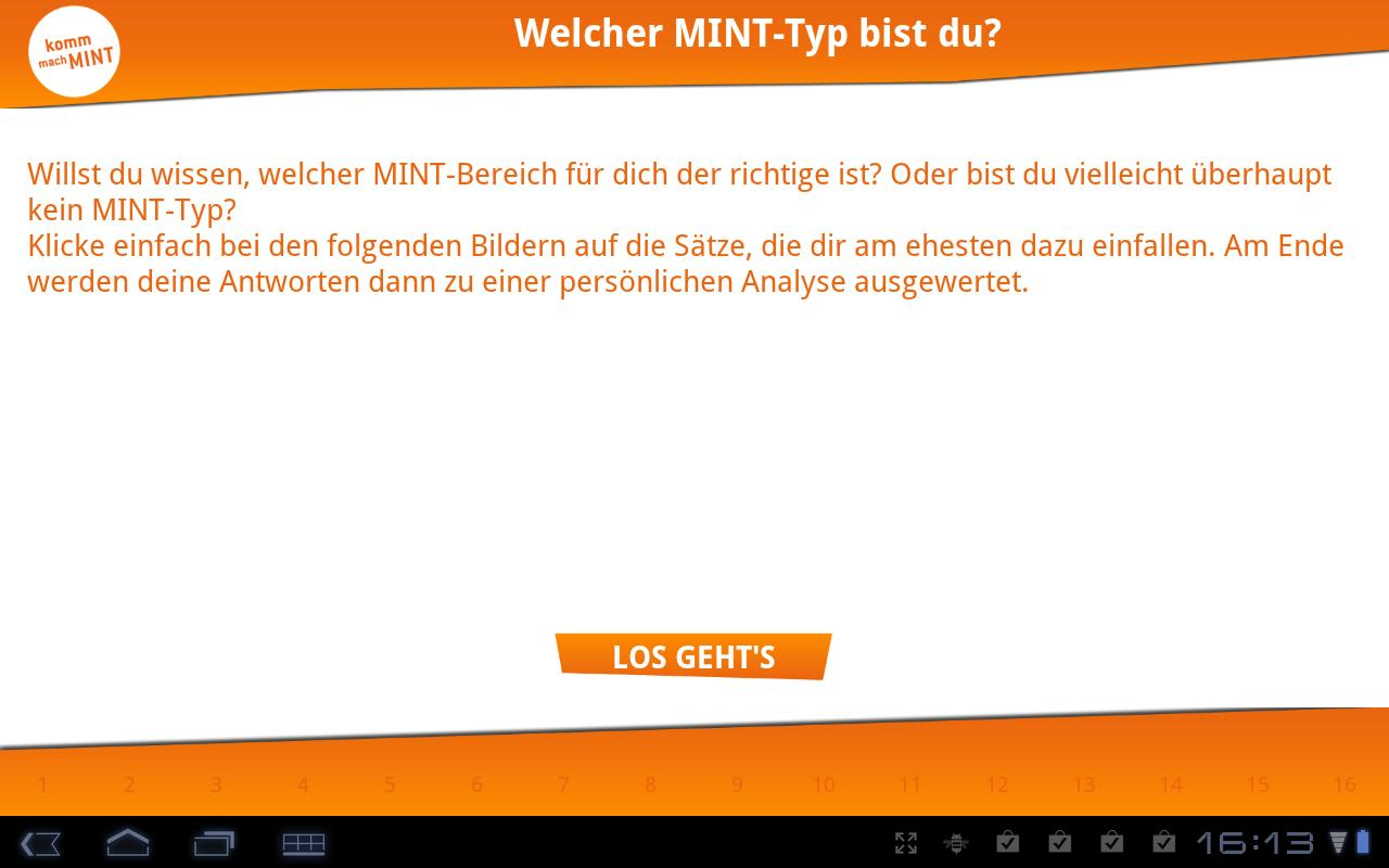 MINT-Test – Screenshot