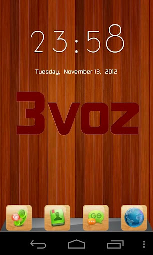 3voz GO Launcher Theme - Wood