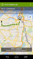 Screenshot of Arrivo Sydney Lite Transit App