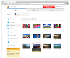 Screenshot of G Cloud Backup